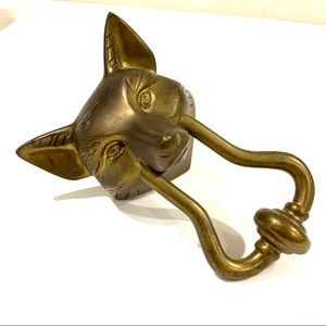 Fox brass vintage knocker